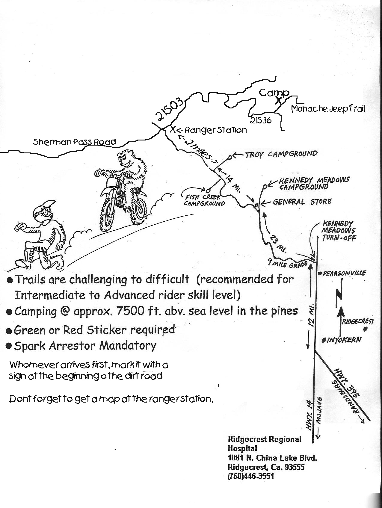 Kennedy Meadows Map